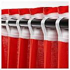Гардины IKEA ANNALOUISA 145x300 см 2 шт красные 904.108.37, фото 4