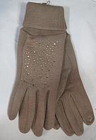 Перчатки женские зима сенсор ( трикотаж, мех ), фото 1