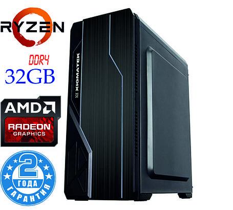Игровой компьютер NG Ryzen 5 2600 X4 (Ryzen 5 2600 /DDR4 - 32Gb/SSD-240Gb/HDD-2Tb/RX580), фото 2