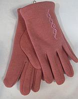 Перчатки детские на девочку зима ( трикотаж, мех ), фото 1