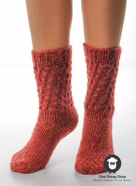 Шерстяные носки ручной вязки, 100% овечья шерсть