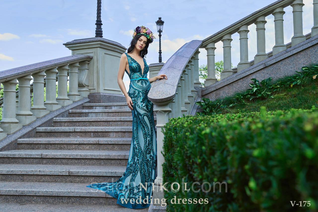 Вечернее, выпускное платье V-175