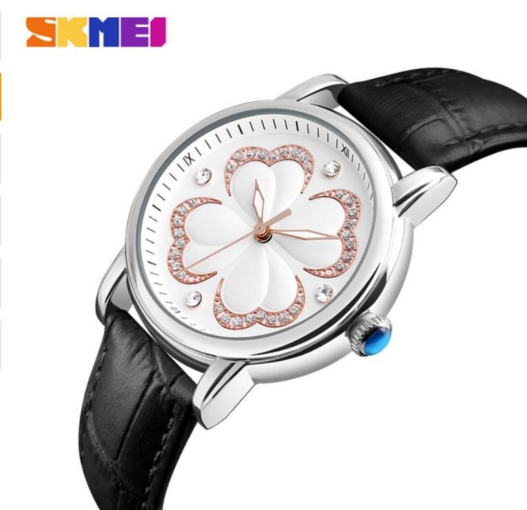 Женские классические часы SKMEI 9159 черный ремешок