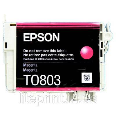 Оригинальный картридж Epson T0803, Magenta