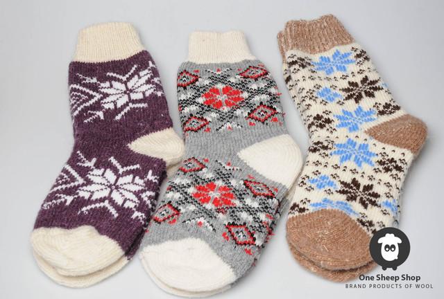 Теплые женские шерстяные носки, машинная вязка