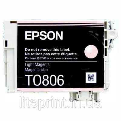 Оригинальный картридж Epson T0806, Light Magenta