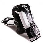 Боксерские перчатки Tatami Combat Athletics Pro Series 2.0 Черные с белым, фото 3