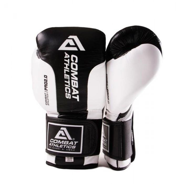 Боксерские перчатки Tatami Combat Athletics Pro Series 2.0 Черные с белым