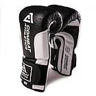 Боксерские перчатки Tatami Combat Athletics Pro Series 2.0 Черные с белым, фото 5