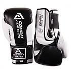 Боксерские перчатки Tatami Combat Athletics Pro Series 2.0 Черные с белым, фото 6