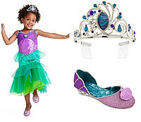 Карнавальный костюм русалочки Ариэль 2018 + тиара и туфельки, Disney Store Ariel