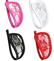 Кружевные С-стринги трусики невидимки на каркасе, цвет на выбор, фото 1