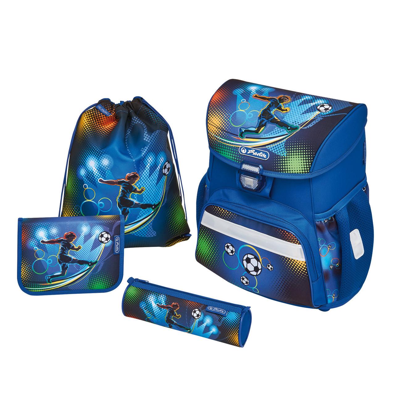 Ранец школьный укомплектованный Herlitz LOOP PLUS Soccer (50007950)