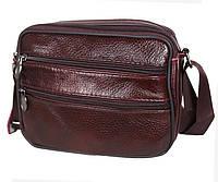 Мужская кожаная сумка через плечо Bon2355-1 коричневая барсетка 15х19х7см