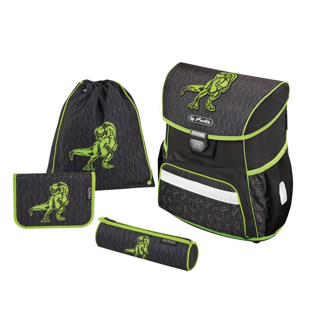 Ранец школьный укомплектованный Herlitz LOOP PLUS Dino Green (50013852)