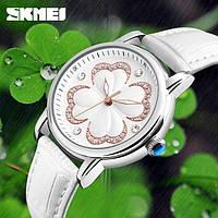 Женские классические часы SKMEI 9159 белые, фото 1