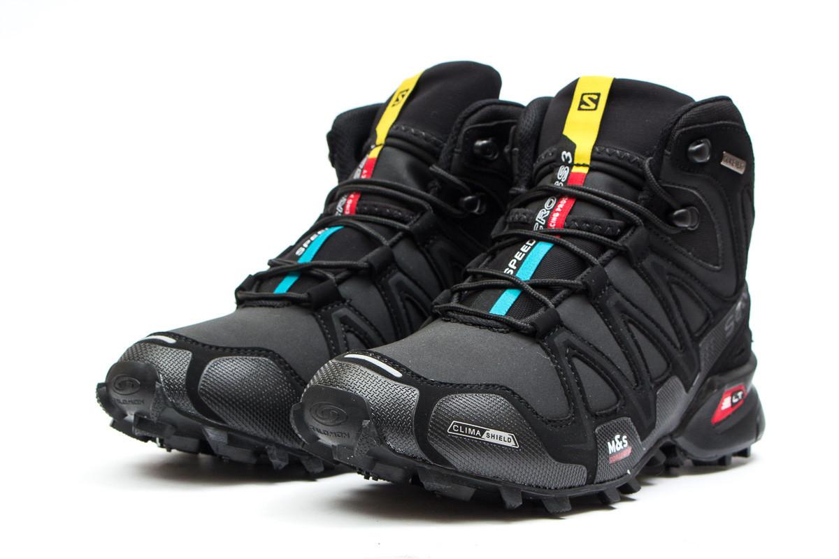 da00bb214708 Ботинки мужские зимние Salomon Speedcross 3 M S Contagrip (Саломон  Спидкросс) черного цвета - реплика