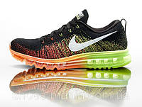 Мужские  кроссовки Nike Flyknit Air Max black