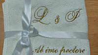Монограммы вышитые с вензелями на любой ткани,под заказ.Специальная вышивка.