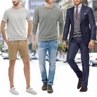 Мужские костюмы, брюки, джинсы, шорты