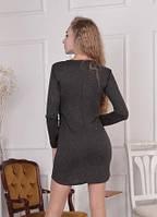 Трикотажное платье с длинными рукавами 0104/05, фото 1