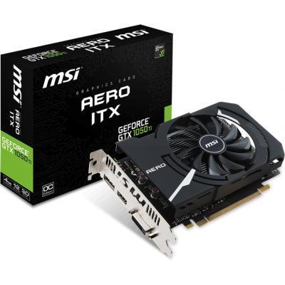 Видеокарта MSI GeForce GTX1050 Ti 4096Mb AERO ITX OC (GTX 1050 TI AERO ITX 4G OCV1)