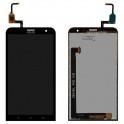 Дисплей для Asus ZenFone 2 Laser (ZE601KL) с тачскрином черный, Glacier Gray Оригинал