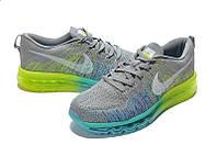 Мужские  кроссовки Nike Flyknit Air Max grey