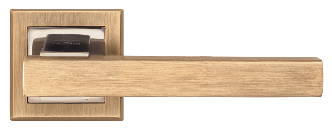 Ручка дверная на розетке MVM Loft - Z-1290 MACC/PCF (матовая бронза/полированная бронза)