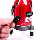 Уровень лазерный профессиональный, 5 лазерных головок, звуковая индикация INTERTOOL MT-3011, фото 7