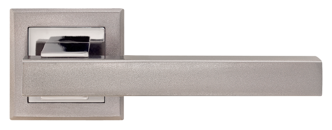 Ручка дверная на розетке MVM Loft - Z-1290 BN/SBN (черный никель/матовый черный никель)