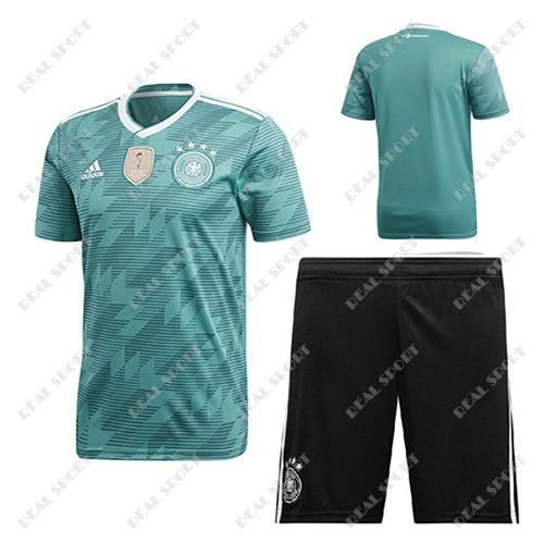 Детская футбольная форма Сборной Германии ЧМ 2018, Без номера. Гостевая  форма f26d7003a94