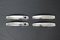Накладки на ручки УЗКИЕ (4 шт, нерж) - Chevrolet Epica 2006+ гг.