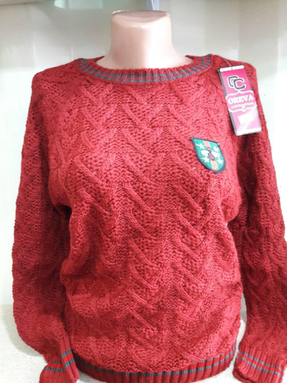 Стильный женский свитер с эмблемой  р. 42-48 Турция
