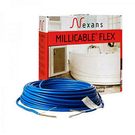 Теплый пол электрический Nexans тонкий нагревательный кабель Millicable Flex