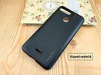"""Черный матовый чехол бампер """"Rock"""" для Xiaomi redmi 6 - термополиуретан"""
