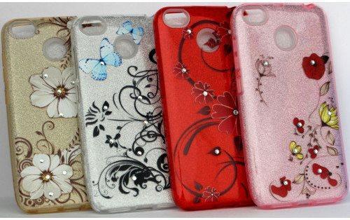 "Накладка Xiaomi Redmi Note 4/Note 4x ""Glitter Flowers"" Розовая"