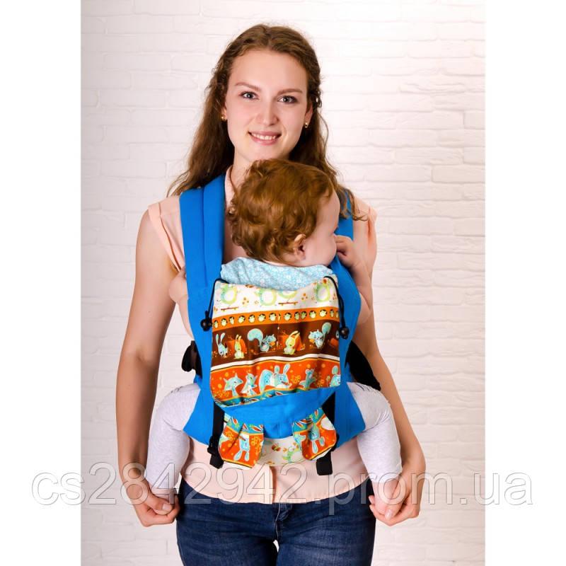 Ерго-рюкзак Sunny Зверята (лен с хлопком)