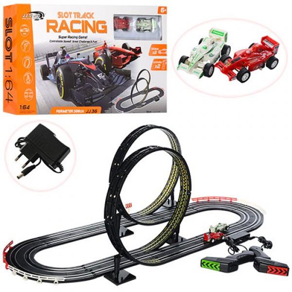 Трек JJ36-2 Slot Racing Track,протяженность 388 см/90-40 см