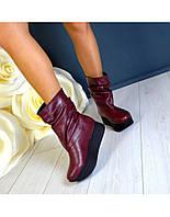 Зимние кожаные сапогина разные цвета 36-40