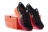 Женские кроссовки Nike Air Max Flyknit black-orange, фото 1