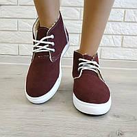 Ботинки женские зимние оптом Литма шнурок