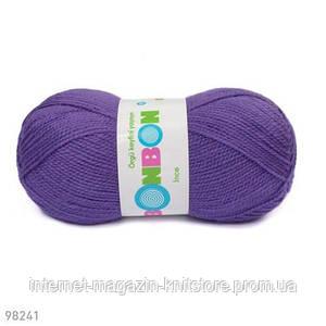 Пряжа Nako Bonbon Ince Фиолетовый
