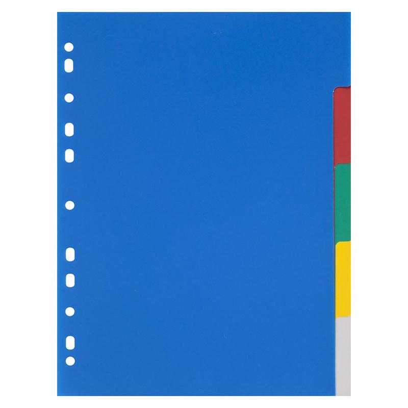 Разделители Office Point А4 3805500-02 пластик 5 цветных разделов