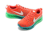 Женские кроссовки Nike Air Max Flyknit red, фото 1