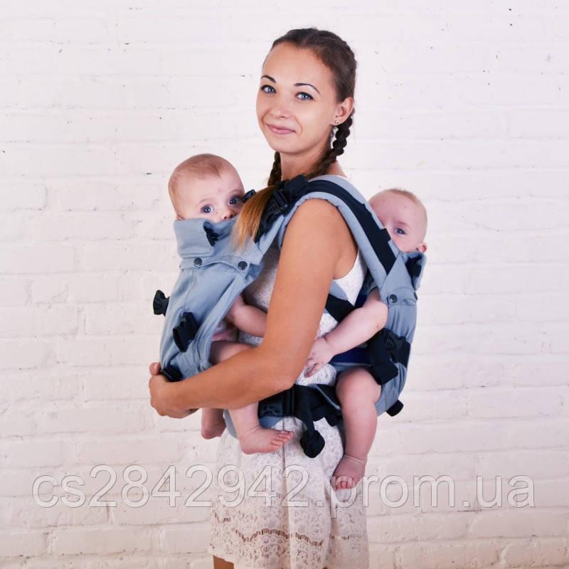 Ерго-рюкзак для близнюків Back Adapt сірий