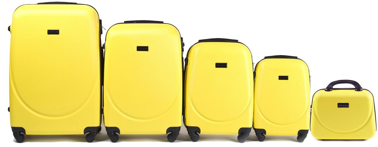 Комплект пластиковых чемоданов Wings 310-5 на 4 колесах, фото 1