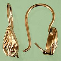 Золоті сережки без вставок