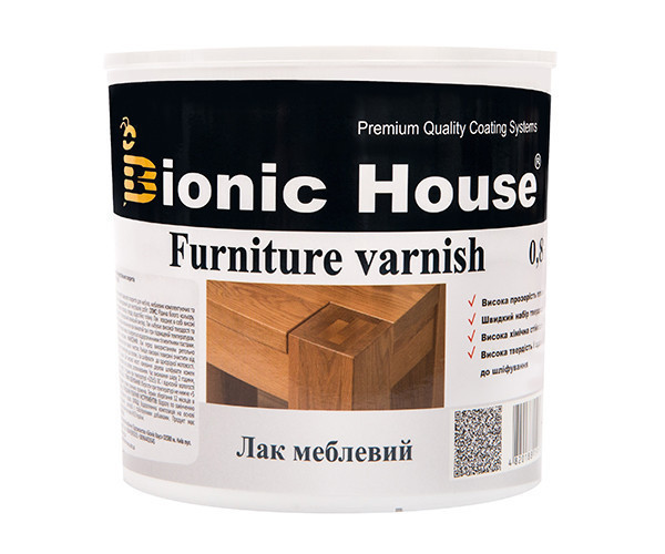 Bionic House мебельный лак 10л матовый