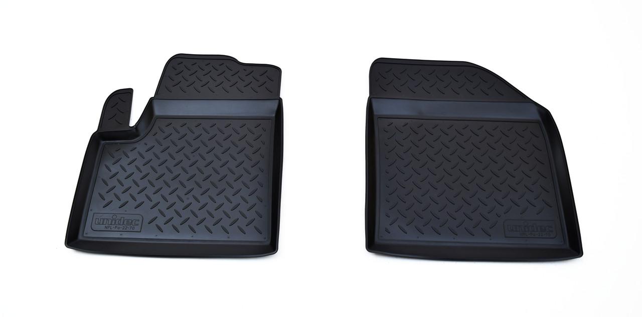 Килимки в салон для Ford Tourneo Connect передки. (06-13) (полиур., компл - 2шт) NPL-Po-22-70